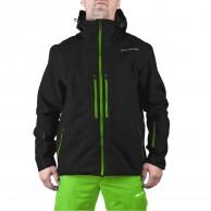 DIEL Aron hard shell jacket, black/green