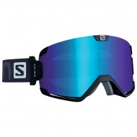 Salomon Cosmic goggles, black/lo light blue