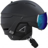 Salomon Driver+, helmet with visor, black/silver
