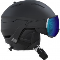 Salomon Driver, helmet with visor, black
