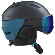 Salomon Driver, helmet with visor, dark blue