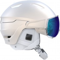 Salomon Mirage+ Ski Helmet with visor, white
