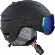 Salomon Mirage, helmet with visor, black