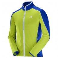 Salomon Atlantis FZ fleecejacket, men, lim/blue
