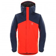 Haglöfs Niva Insulated Ski Jacket, red/blue