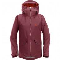 Haglöfs Khione Insulated ski jacket, women, aubergine