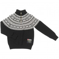 Typhoon Bodö, knitted sweater, black/off white