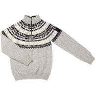 Typhoon Bodö, knitted sweater, grey/white
