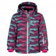 Kilpi Genovesa JG, ski jacket, kids, green print