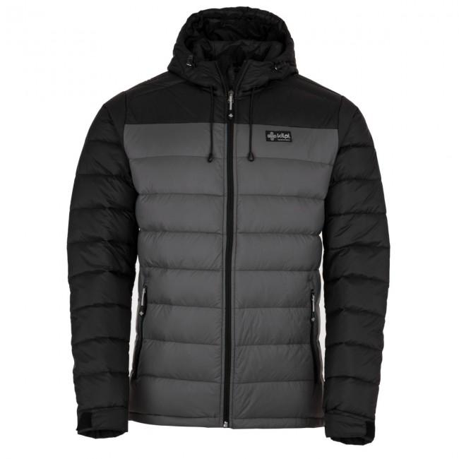 Kilpi Svalbard-M, down jacket, men, black/grey met korting