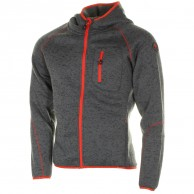 Cairn Roselend M, fleece jacket, men, Graphite Scarlet