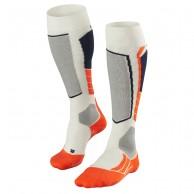 Falke SK2 Wool ski socks, white