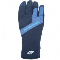 4F NeoDry, ski gloves with touch, men, dark navy