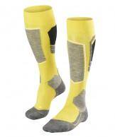 Falke SK4 ski socks, men, yellow