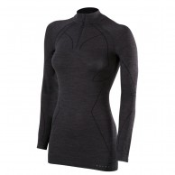 Falke Wool-Tech Zip Shirt Comfort, Women, black