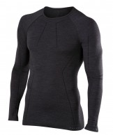 Falke Long Sleeved Shirt Wool-Tech, men, black