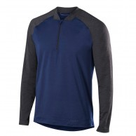 Falke 1/2 Zip Long Sleeved Shirt, men, dark blue