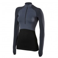 Falke 1/2 Zip Long Sleeved Shirt, women, dark grey