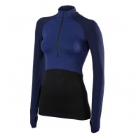 Falke 1/2 Zip Long Sleeved Shirt, women, dark blue