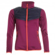 Cairn Meya W, mid layer, women, Cranberry Midnight