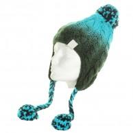 K2 knitted beanie, green