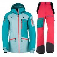 Kilpi Nalau hardshell set, women, blue/pink