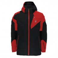 Spyder Leader Ski Jacket, man, black/red