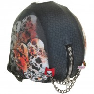CrazeeHeads helmet cover, Screaming Skulls