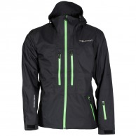 DIEL Aron hard shell jacket, black/green