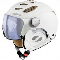 Alpina Jump JV Varioflex ski helmet with Visor, Matt White