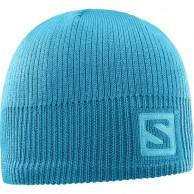 Salomon Logo Beanie, blue