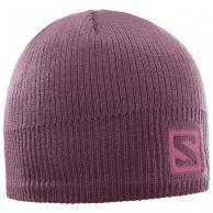 Salomon Logo Beanie, purple