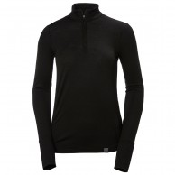 Helly Hansen Merino Mid 1/2 Zip, womens, black
