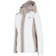 4F Melanie womens ski jacket, white