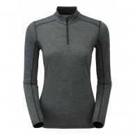 Montane Women's Primino 140 Zip Neck, Black