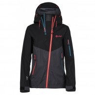 Kilpi Metrix, hardshell jacket, women, grey/black