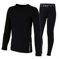 Cairn Warm 180, base layer set, junior, black