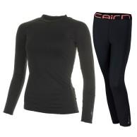 Cairn Warm 180, base layer set, women, Black