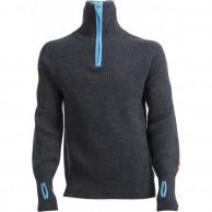Ulvang Rav sweater w/zip, mens, dark grey