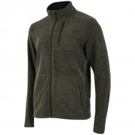 4F mens fleece jacket, dark green