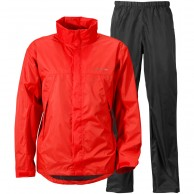 Didriksons Main Mens Set, Rain Suit, red