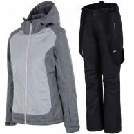 4F Debbie/Lora ski set, women, light grey/black