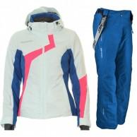 DIEL Elana/Cher ski set, women, swan/blue