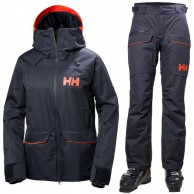 Helly Hansen W Powder ski set, women, blue