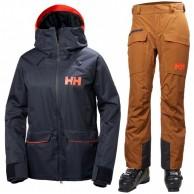 Helly Hansen W Powder ski set, women, blue/cinnamon
