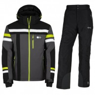 Kilpi Titan-M/Gabone-M ski set, men, dark grey/black