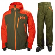 Helly Hansen Stuben/Selkirk ski set, men, ivy green
