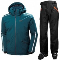 Helly Hansen Vista/Selkirk ski set, men, green/black