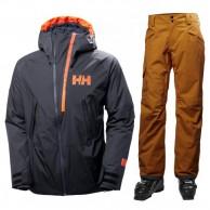 Helly Hansen Nordal/Sogn Cargo ski set, men, blue/brown