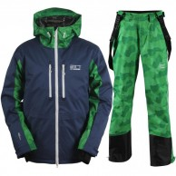 2117 of Sweden Eco Ope ski set, men, dark blue/green